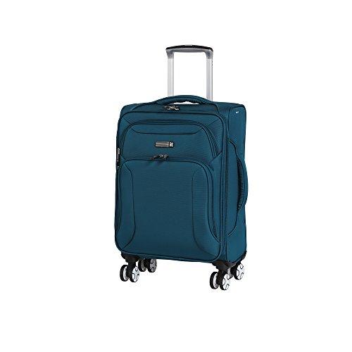 it luggage Fascia 8 Wheel Lightweight Semi Expander Suitcase Cabin Koffer, 56 cm, 46 liters, Blau (Moroccan Blue)