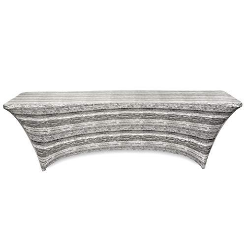 Obstal Stretch Spandex Tischdecke für Standard Klapptische - Universal Rechteckige Tischdecke Schutz für Hochzeit, Bankett und Party 8Ft | 96