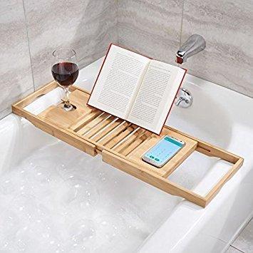 Mdesign ripiano per vasca da bagno in legno portaoggetti - Supporto per vasca da bagno ...