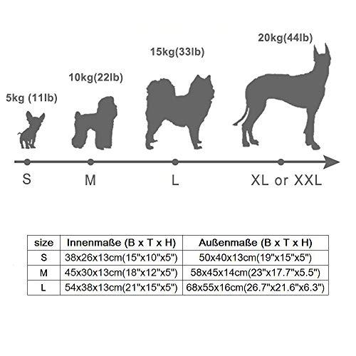 REXSONN® Hundebett kuscheliges, waschbares Hund Bett Hundekissen Hundesofa Hundekorb Hundehöhle hundehütte Katzenbet Tierbett Pet Dog Cat bed cushion - 3