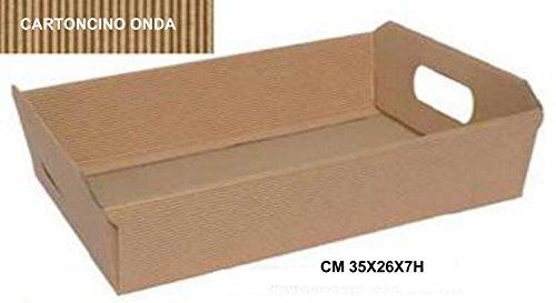 Tablett Korb aus Karton Onda Avana, Packung mit 10Stück