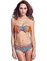 Senfloco -Femme Sexy Bikini Maillots de Bain 2 pièces Trikini Bikini Push Up Bustier Avec nœud