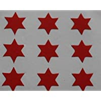 150 Labels, 10mm Star Shape, Red, Self-Adhesive Stickers, Minilabel Shapes