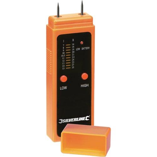 Silverline 675304 Feuchtigkeitsmessgerät für Holz und Baustoffe, 7-32% Sättigung