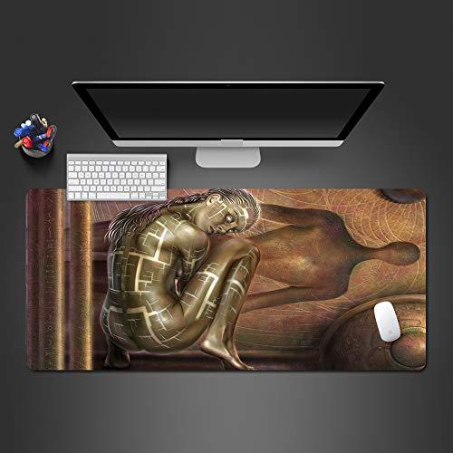 Mauspad 900X400*3Mm Personalisierte Kreative 3D Charakter Mauspad Gummimatte Spiel Spieler Können Das Spiel Pad Waschbar Spielen