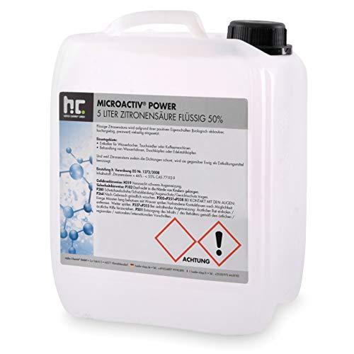 Höfer Chemie 1 x 5 Liter Zitronensäure 50% flüssig handlichen 5L Kanister - TECHN. QUALITAET