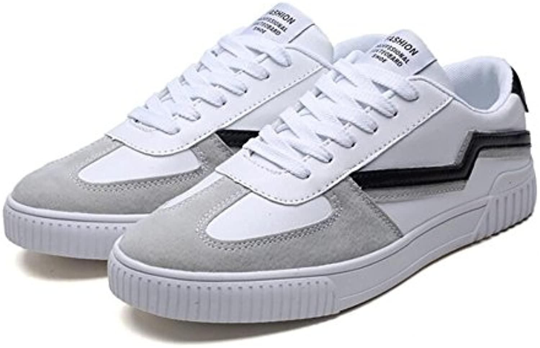 LXMEI Zapatos de Hombre PU Primavera Otoño Zapatos Vulcanizados Confort Zapatillas con Cordones para Hombres Casual  -