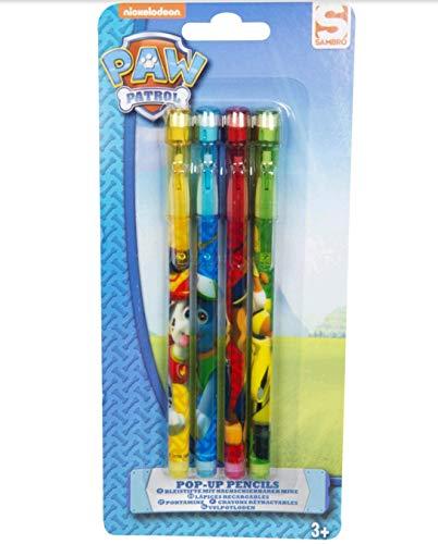 Sambro- Mina Pack de 4 lápices Recargables Paw Patrol, (PWP2-624)