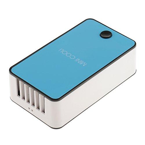 MagiDeal Mini Portable Ventilateur Soufflante d'air Rechargeable USB pour Séchage Rapide Colle Extension de Faux Cils en ABS 12x6x3.5cm - Bleu