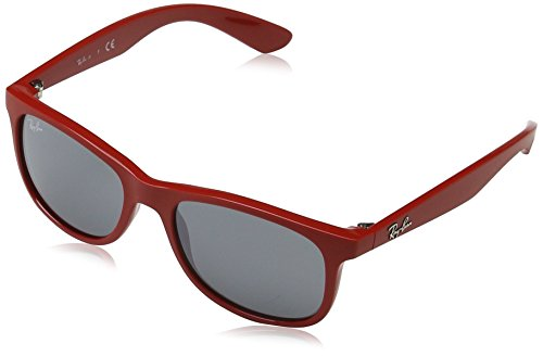 Ray Ban Unisex Sonnenbrille RJ9062S, (Gestell: Rot, Gläser: Grau Verspiegelt 70156G), Medium (Herstellergröße: 48)