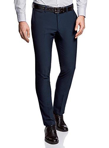 oodji Ultra Uomo Pantaloni Classici Aderenti Blu (7929B)