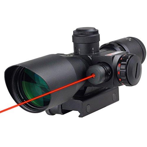 IRON JIA'S Base de Montage Picatinny/Weaver 2.5~10 X 40 mm portée Reflex Rouge/Vert réticule avec Red Dot viseur Laser