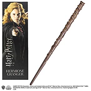 Noble Collection- Réplica Harry Potter Varita y Marcapáginas 3D Hermione Granger, (NOB6314)