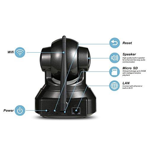 Mejor Cámara de Vigilancia MixMart Cámara IP 720p HD Wifi