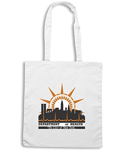 T-Shirtshock - Borsa Shopping TM0108 New York City Department of Health citta Bianco