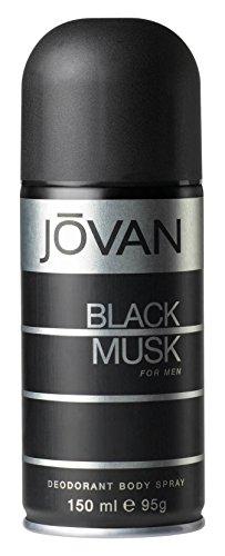 Jovan Black Musk for Men Deo Body Spray, 1er Pack (1 x 150 ml) (Musk Deodorant Body Spray)