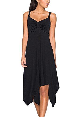 Nergivep Damen Kleid Gr. 44-46, schwarz -