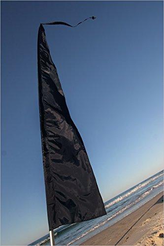 Festivalflaggen! Perfekt für Werbung, Gärten & Festivals ~ 5 Meter hoch! Fallschirm Seide! Viele Farben erhältlich !! Keine Fahnenmasten inklusive !! (Schwarz)