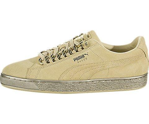 Preisvergleich Produktbild PUMA Classic X Chain Mens Beige Suede Lace Up Sneakers Shoes 11