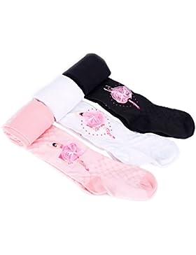 TININNA Pantalones elásticos,3 pares Ballet Girl Patrón caliente del invierno de los calcetines largos de las...