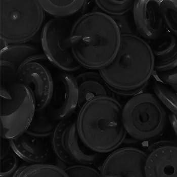 Boutons pressions KAM ronds 12,4 mm Noir x20
