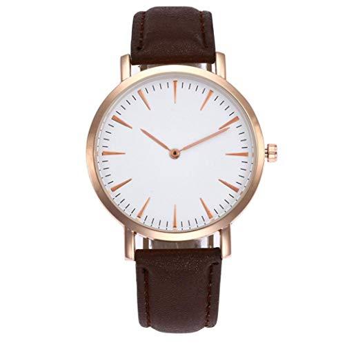 Kinlene Damen Leder-einfache Geschäfts-Art- und Weisequarz-Armbanduhr Uhren