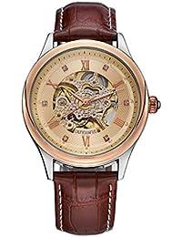 4f5bdda116b2c A-ZHP Montres Bracelet Montre pour Hommes d'affaires de Mode Montre  Automatique mécanique Robe étanche Montre Montre Chiffre…