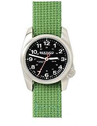 Bertucci 10015Unisex verde Nylon banda de acero inoxidable esfera de color negro reloj inteligente