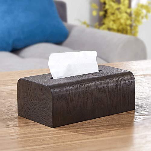 ZHAIZX Nussbaumholz Tissue Boxen Wohnzimmer Couchtisch Kreative Servietten Boxen Home Aufbewahrungsboxen Nordischen Japanischen Stil (Color : C) -