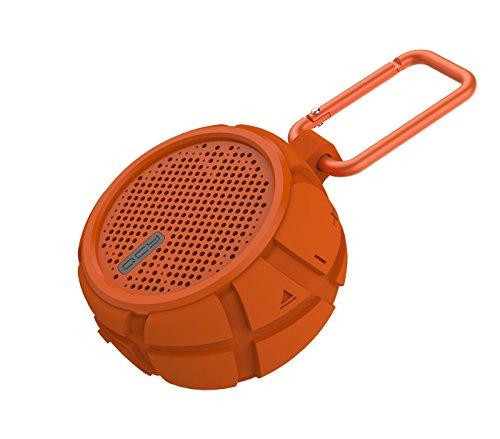 QCY Box II - Outdoor Bluetooth-Lautsprecher mit klarem Sound und Bass, tragbar und drahtlos für Reisen und Camping, Wasserdicht und Stoßfest IPX7 (Orange)