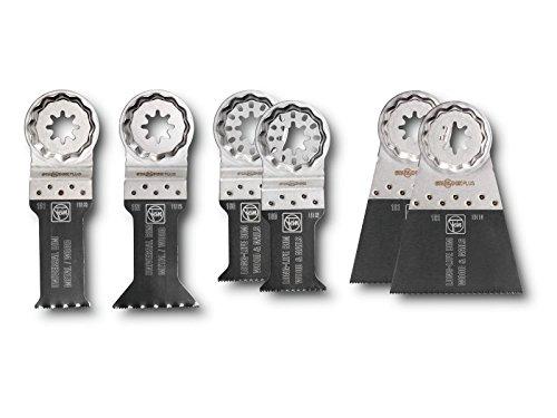 fein akku multimaster Zubehör Set Best of E-Cut | für Multimaster, Multitalent, Profi-Set… / E-Cut Sägeblättern / Bi-Metall-Verzahnung | 6 Teilig / 6 Stück, in Praktischer Kunststoff aufbewahrungsbox