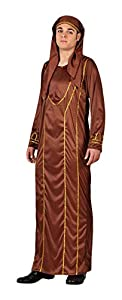 Atosa- Disfraz Jefe árabe, Color marrón, M-L (5013)