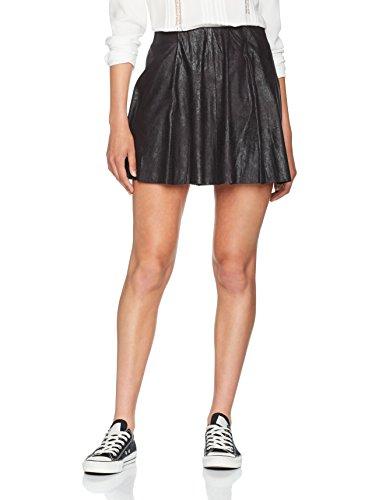 Only Onlbest Neolin Faux Suede Skirt Otw Noos, Gonna Donna, Nero (Black Black), 34 (Taglia Produttore: X-Small)