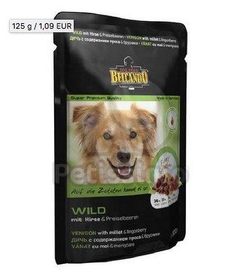 BELCANDO Nassfutter FINEST SELECTION Wild mit Hirse & Preiselbeeren 300g für Hunde