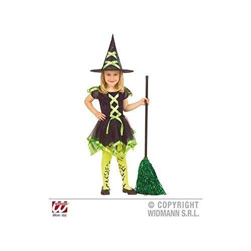 Lively Moments Kleine freche Hexe in grün Gr. 104 - 110 / Kinderkostüm / Hexenkostüm / Kinderhexenkostüm / Halloweenkostüm (Hexe Kostüm Für Freche Kinder)