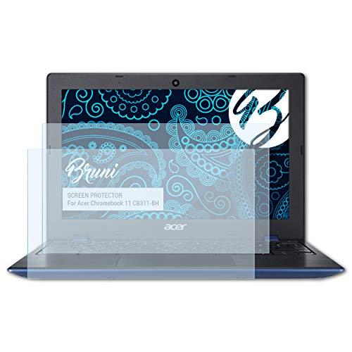 Bruni Schutzfolie für Acer Chromebook 11 CB311-8H Folie, glasklare Displayschutzfolie (2X)