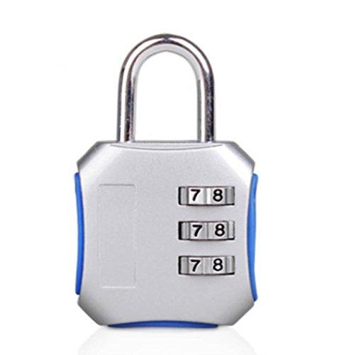 GZD Passwort-Vorhängeschloss Zifferblatt Kombi Reise Koffer Gepäck Vorhängeschloss TSA Nummer Code Sicherheit Schloss Pin / Sicherheitskontrolle und re-lock verschiedene Farben , Silver High quality