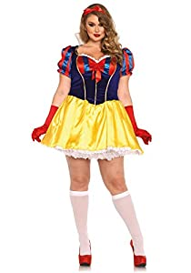 Leg Avenue- Princesa Mujer, Multicolor, Talla Plus 1X/2X (EUR 46-50) (85420X08101)