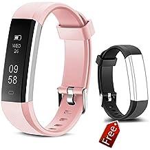 Pulsera de Actividad Inteligente JIUXI Fitness Tracker Impermeable Pulsera Inteligente Reloj con Podómetro Contador de calorías