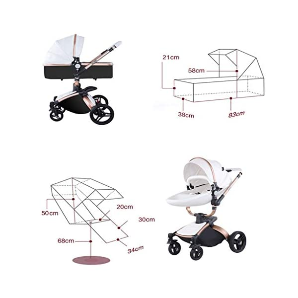 Stroller, Two-Way SUV-Class Stroller, High-Profile Light Folding Baby Four-Wheeled Cart YSSY - Triangular frame, greatly improving the load-bearing and shock-absorbing performance of the body. - High-end environmentally-friendly PU leather, waterproof and anti-fouling, a clean wipe. - SUV-level suspension design, easy to apply to a variety of road surfaces. 6