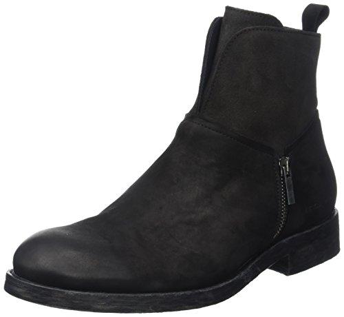 IKKS Black Boots, Stivali da Motociclista Uomo, Nero (Noir), 44 EU
