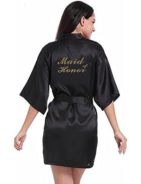 BOYANN Damigella d'onore Stampa a Caldo Vestaglie e Kimono Pigiami e Camicie da Notte