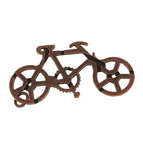 Retro-Vintage-Fahrradschloss Iq Geist Gehirn Teaser Kinder Erwachsene Spielzeug