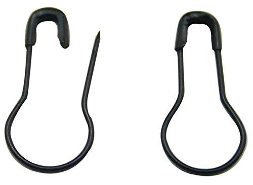 300 Stück Sicherheitsnadeln 2 cm Metall klein schwarz Flaschenkürbis Pin Sicherheit Brosche Pins Kleidung Tag Pins Leuchtmittel PIN DIY Home Zubehör geeignet für die Tailor -