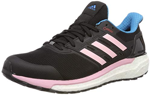adidas Damen Supernova GTX W Laufschuhe, Schwarz (Core Black/Shock Cyan/True Pink Core Black/Shock Cyan/True Pink), 40 EU