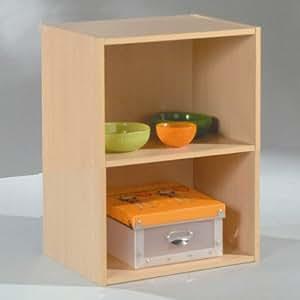 Alsapan 91454 - Mobile a cubo a 2 scompartimenti, in legno di faggio, dimensioni: 40 x 29 x 54 cm