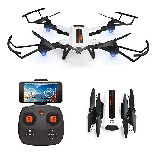 HAOXIN-F22G-FPV-RC-Drone-Quadcopter-Pliable-avec-Camra-HD-720p–Grand-Angle-Rglable-Drone–Longue-Porte-Planification-dItinraires-dHlicoptre-Facile–Piloter-Batterie-Modulaire-Longue-Dure