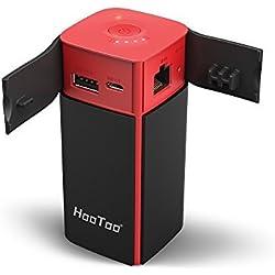 HooToo Filhub NAS Portable, Routeur Sans Fil WiFi Portable, Lecteur de Disque Dur WiFi, Batterie Externe 10400mAh, Point d'access - TripMate Titan