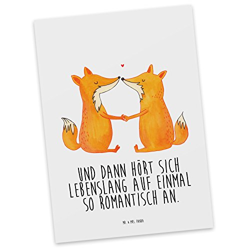 mr-mrs-panda-postkarte-fuchse-liebe-100-handmade-handbedruckt-fuchs-fuchse-fox-liebe-liebespaar-paar