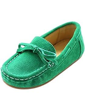 YiJee Niños Comodidad Mocasines Piso Casual Zapatos Bowknot Decoración